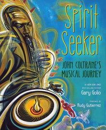 The book Spirit Seeker features paintings by Rudy Gutierrez.