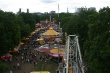 Waterfront Park from the top of the Rose Festival Fun Center Ferris Wheel