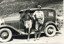 In 1932, Luther Cressman and Howard Stafford surveying Oregon indigenous rock art.