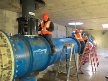 Lucid Energy installed four electric generators inside a Portland drinking water pipeline.