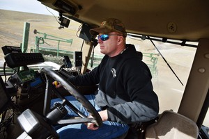 Wheat farmer Jeff Newtson of Helix, Oregon, plants barley in a field northwest of town. Newtson says he's working 20-hour days to get his crops in the ground.