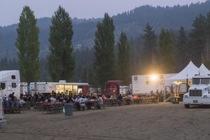 A fire camp in Leavenworth, Washington, during the 2018 fire season.