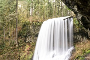 Middle North Falls is one of 11 waterfalls at Silver Falls State Park in Silverton, Oregon.