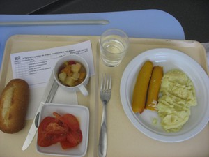 Pick your poison: hospital food or prison food.