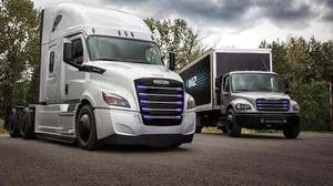Daimler Trucks North America will be manufacturing two new models of electric heavy duty trucks at its factory in Portland.