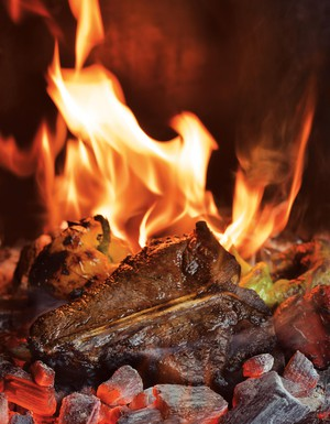 """Excerpted from """"Project Fire: Cutting-Edge Techniques and Sizzling Recipes from the Caveman Porterhouse to Salt Slab Brownie S'Mores"""" by Steven Raichlen (Workman Publishing)."""