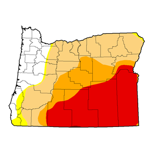 Oregon's drought condition as of April 14, 2015