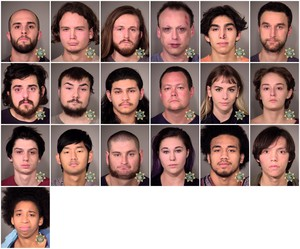 Portland police detained 26 people during protests on Nov. 10, 2016, in Portland. Twenty-five of them were arrested.