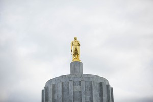 The Oregon Capitol in Salem, March 18, 2017.