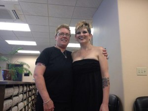 Sheryl Baird and Shannon Rouhier were the first same-sex couple to receive a wedding license in Jackson County.