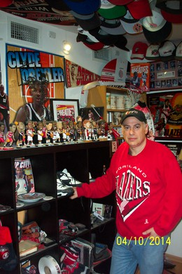 Brownstein has what he claims is the largest collection of Blazers stuff in theworld.