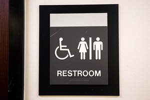Gender-neutral bathrooms are located on floors 2, 3, 4, and 5 at the Multnomah County Office.