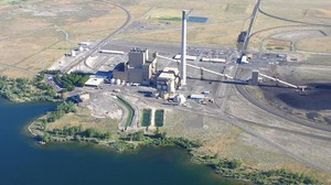 Portland General Electric's coal-fired Boardman Power Plant along the Columbia River.