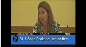 Portland school board member Amy Kohnstamm proposed delaying a bond measure for Oregon's largest district until May 2017.