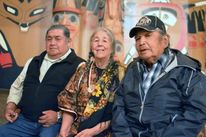 Wilbur Slockish, Carol Logan, and Johnny Jackson say their tribes can no longer practice religious ceremonies at a site near Mount Hood because it was destroyed in an effort to expandHighway 26.