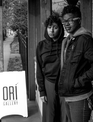 Vivas and Haile outside Ori Gallery in Portland.