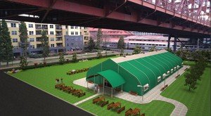 Oregon Harbor of Hope proposes to use an insulated fabric structure to house the new navigation center, which will be used to refer homeless clients to appropriate services.
