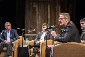 Ted Wheeler (Second from right) at the January 2016 Candidates Forum for Arts and Culture.