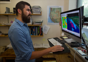 University of Oregon doctoral student Miles Bodmer is researching why some parts of the Cascadia Subduction Zone, which stretches 600 miles from Northern California to Vancouver Island, are more seismically active than others.