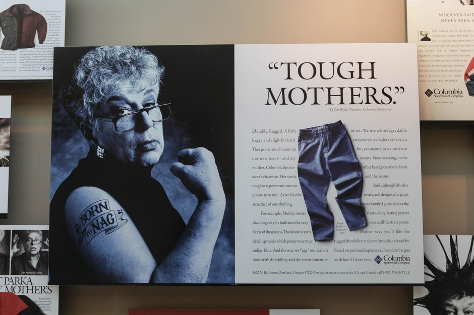 "Gert Boyle became famous in the 1990s being portrayed in company ads as ""One Tough Mother."""