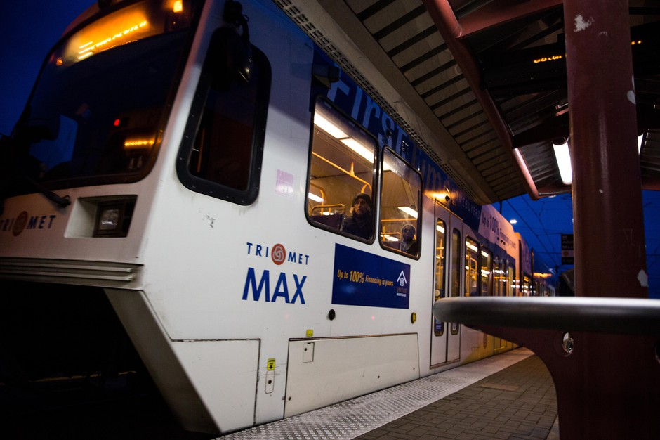The Albina-Mississippi TriMet MAX stop in Portland, Oregon, Saturday, Dec. 15, 2018.