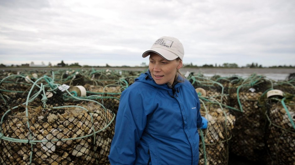 Kathleen Nisbet-Moncy is a second generation oyster farmer. Her family has been farming in Willapa Bay for the past four decades.