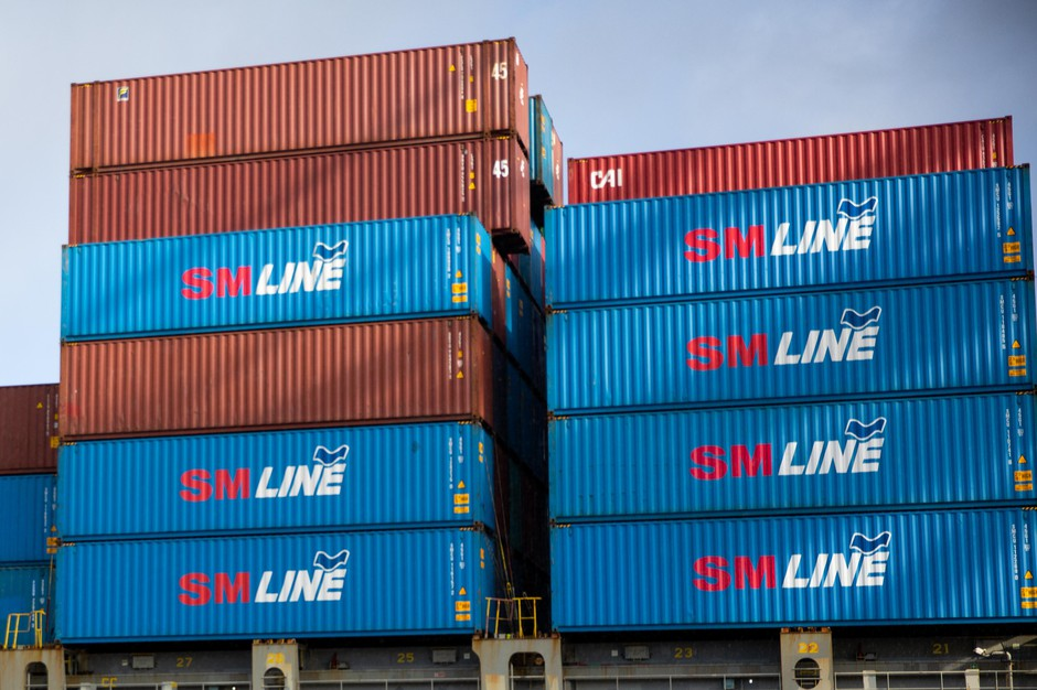 South Korea-based container carrier SM Line made its inaugural vessel call at the Port of Portland's Terminal 6 in Portland, Ore., Tuesday, Jan. 14, 2020.