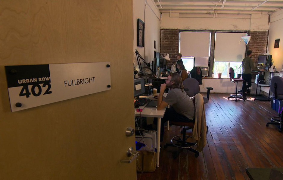 The staff of Fullbright are hard at work in their Southeast Portland office creating new video games