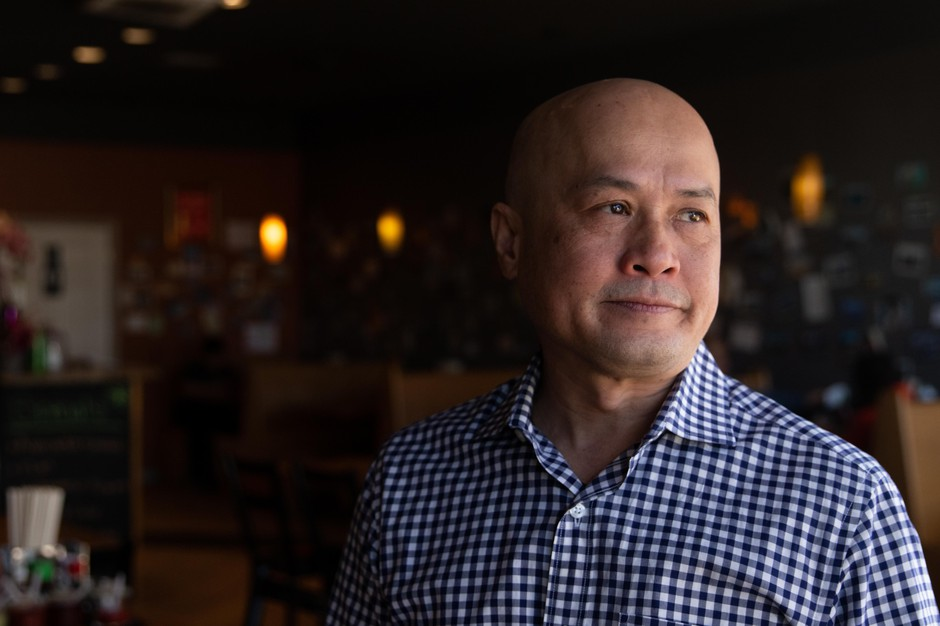 """Long Nguyen is the owner of the Vietnamese restaurant Mekha Grill in northeast Portland, Oregon. """"I feel shocked, really shocked, and I don't know what to do to be honest with you,"""" he said after Oregon Gov. Kate Brown issued the closures of all bars and restaurants in the state to prevent the spread of coronavirus."""