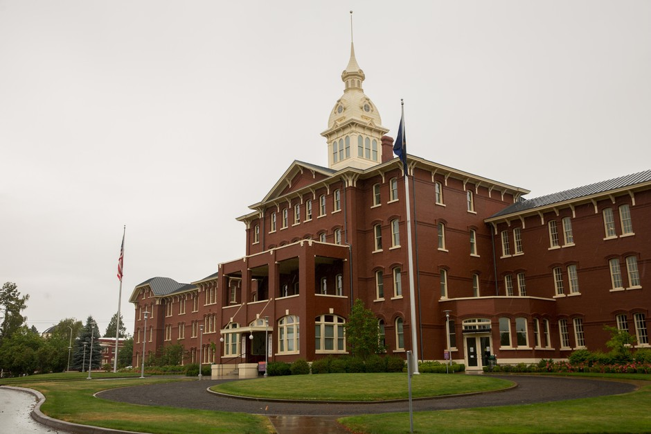The Oregon State Hospital in Salem, Ore., is pictured on Thursday, June 27, 2019. Legislation to reduce wait times at the hospital have cut some people off from the mental health care they need.