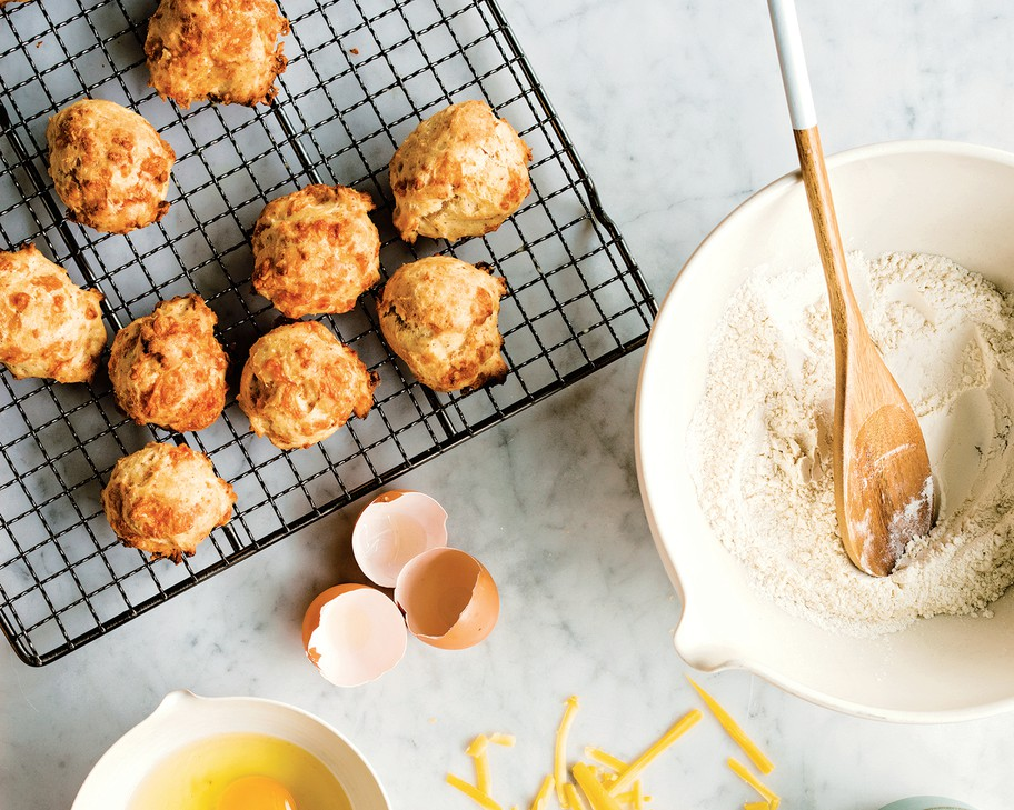 """Homemade Onion Skin Powder is the secret ingredient that gives depth of flavor to these easy Cheese and Onion Biscuits fromPortlander Sarah Marshall's new cookbook, """"Preservation Pantry, Modern Canning from Root to Top & Stem to Core."""""""