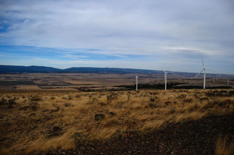 A view near the proposed upper reservoir of the Goldendale Energy Storage project.