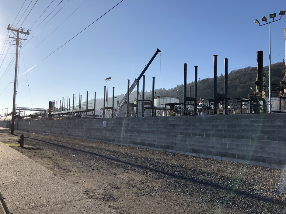 Construction continues at the Zenith Terminals site in Northwest Portland in early February, 2019.