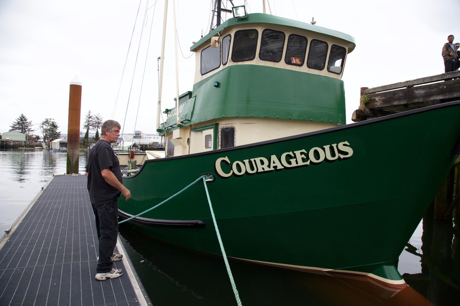 """John Hankins captains his fishing vessel """"Courageous."""" He thinks having cameras on board instead of fisheries observes might stop some cheating, especially in the crabbing season."""