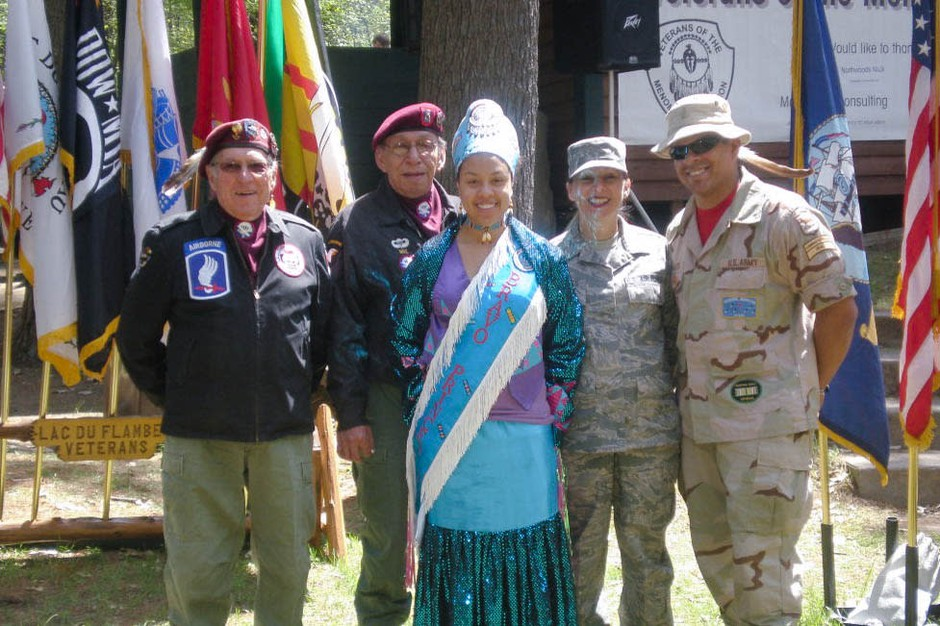 Lisa Gonsalves, second from right, worked at Chemawa in the 1990s, then joined the military. When she returned more recently, conflicts with administrators forced her out.