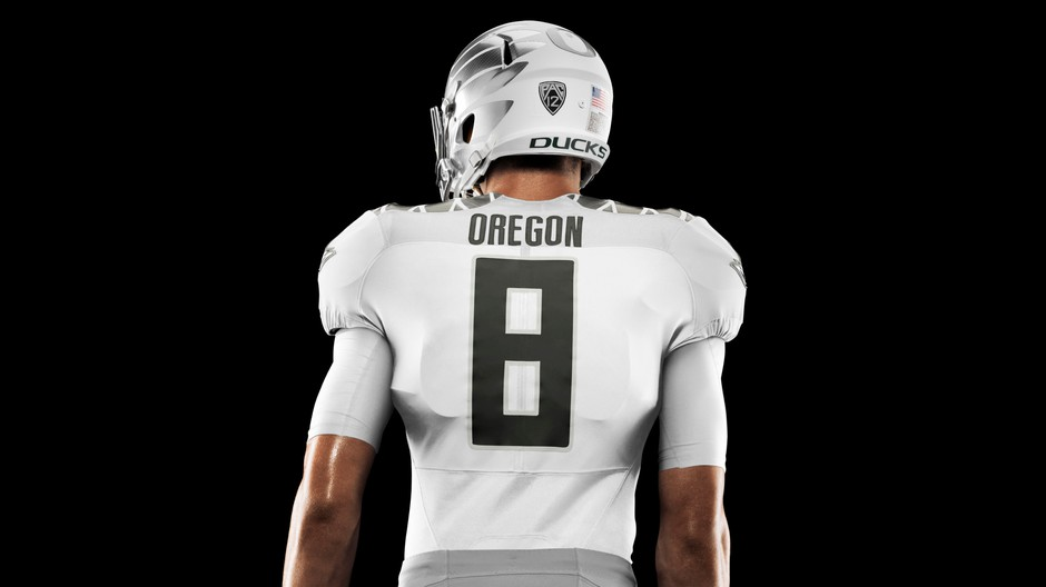 Nike designed this 'icy' uniform for the University of Oregon's championship game.