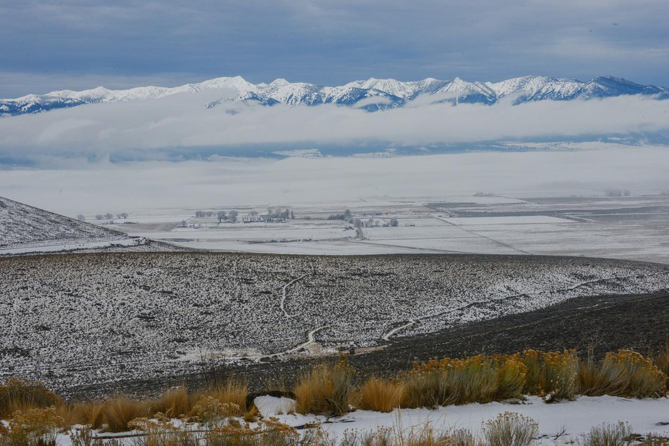 """The Elkhorn Mountains sit closest to the south side of Baker Valley. As one resident said, """"All roads out of Baker City run uphill."""""""