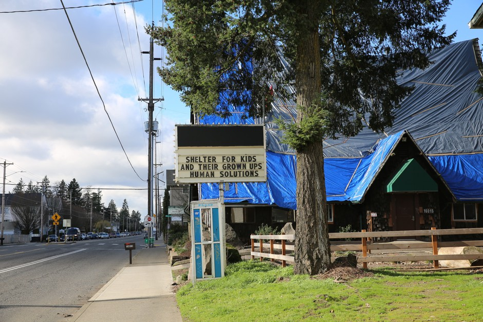 The Human Solutions Family Center is the largest shelter for parents and children who are homeless in Multnomah county.