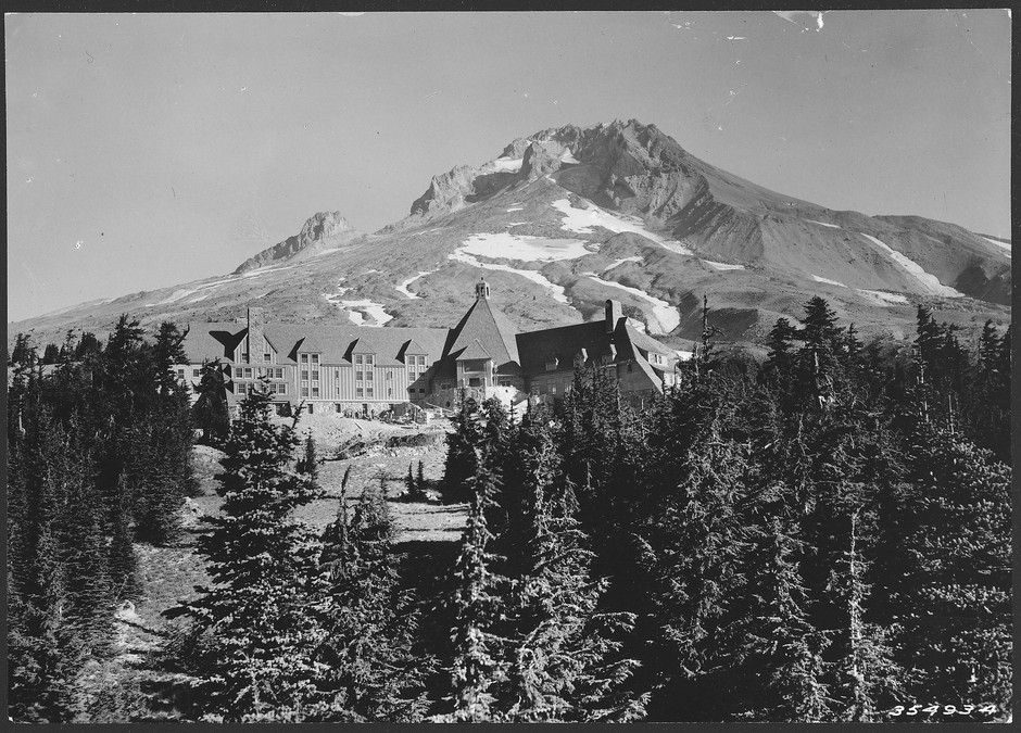 Built by the Works Progress Administration, Timberline Lodge encompassed the work of hundreds of craftsmen and women. Their woodwork, ironworks, weaving, and glass set a new standard for Cascadian ideals, strongly influenced by the Arts and Crafts movement.