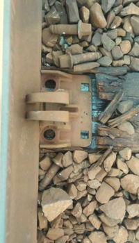 The Federal Railroad Administration shared this photo of broken and rusty lag bolts in its preliminary report on the oil train derailment in Mosier. A series of these broken bolts is considered the most likely cause of a 16-car derailment on June 3.